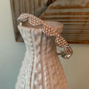 Kate Spade Silver Pave Scalloped Bracelet